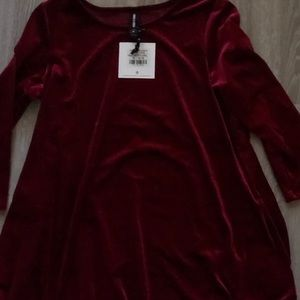 Agnes and Dora Swing Tunic Velvet Berry XL